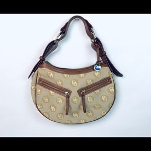 Dooney & Bourke canvas signature logo hobo purse